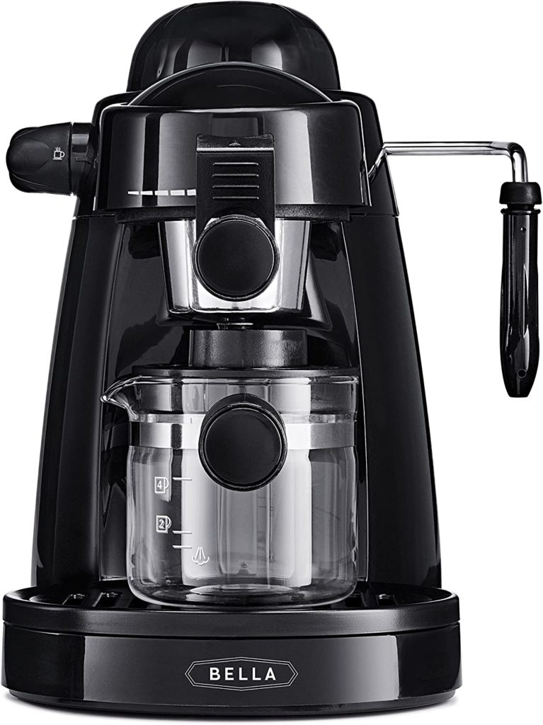 BELLA (13683) Personal Espresso Maker with Steam Wand